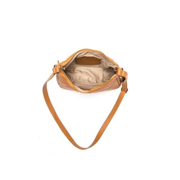 Kožená kabelka Anna Luchini 1172 Cognac