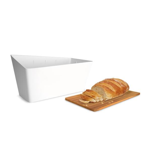 Chlebník s krájacou doskou Bread Bin, biely