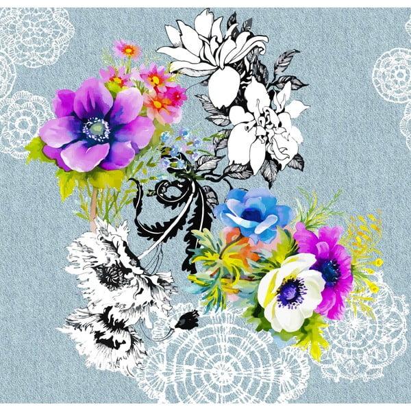 Obliečky Water Lilly Blue, 200x200 cm