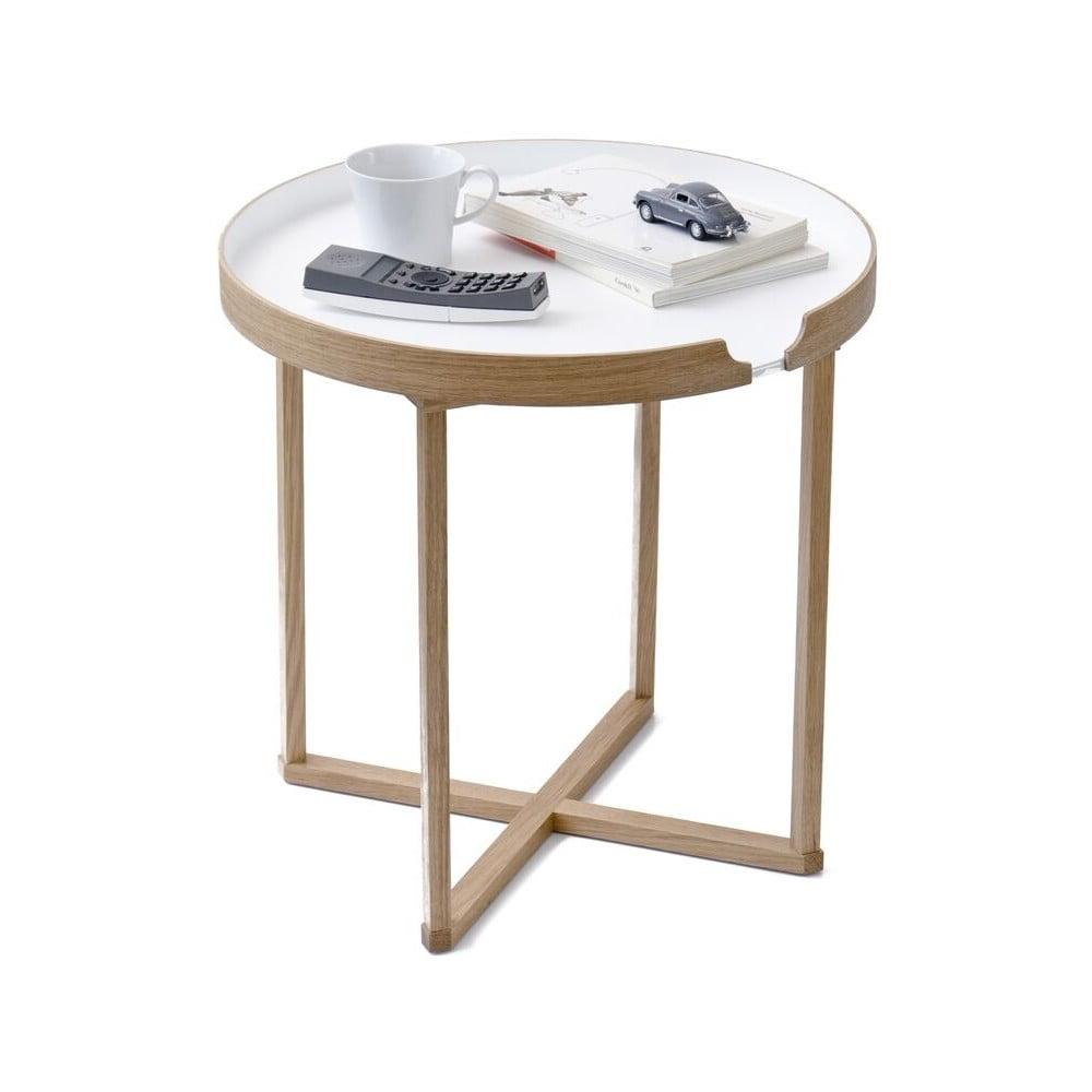 Biely odkladací stolík Wireworks Damieh, 45 × 45 cm