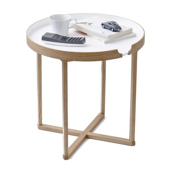 Biely odkladací stolík Wireworks Damieh, 45x45cm