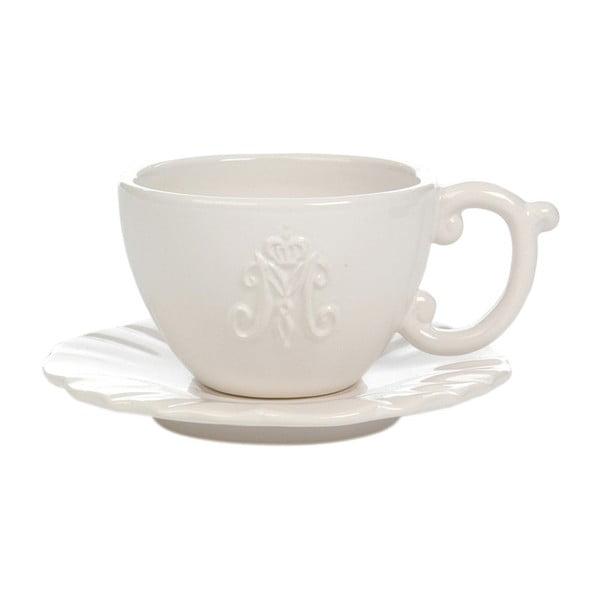Biely keramický hrnček s tanierikom Jolipa
