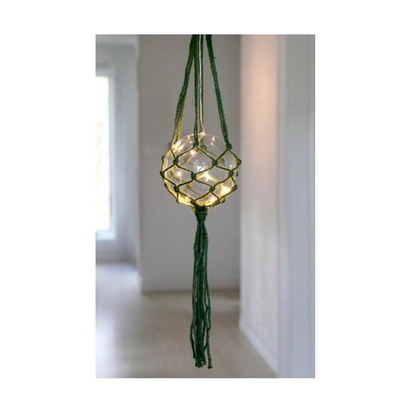 Zelená závesná LED dekorácia Naama