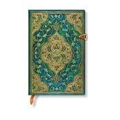 Linkovaný zápisník s tvrdou väzbou Paperblanks Turquoise Chronicles, 9,5 x 14 cm