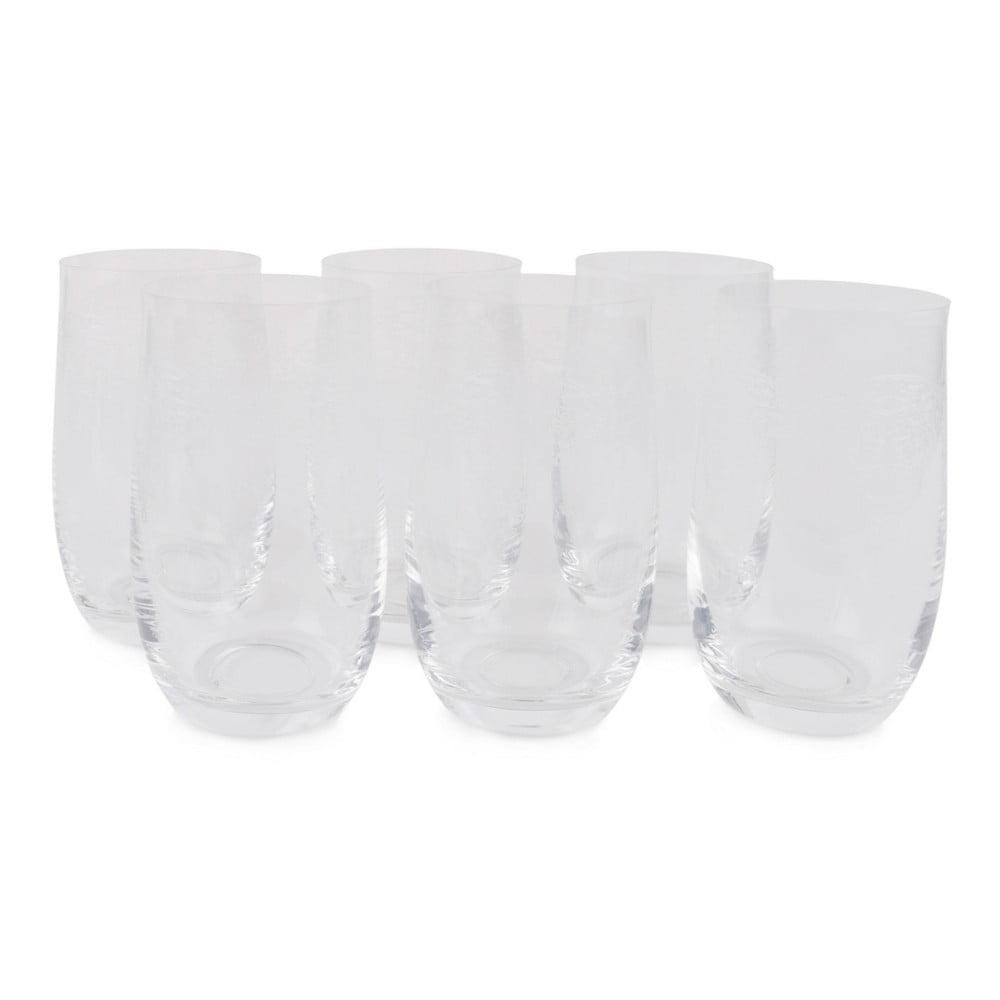 Sada 6 sklenených pohárov Damon