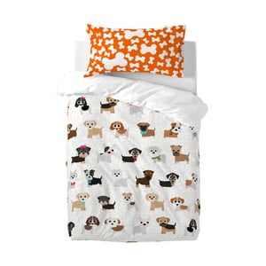 Detské bavlnené obliečky na paplón a vankúš Mr. Fox Dogs, 115×145cm