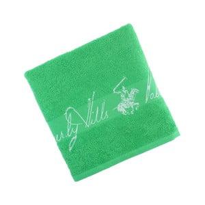 Zelený bavlnený uterák BHPC Jacquard, 50x100 cm