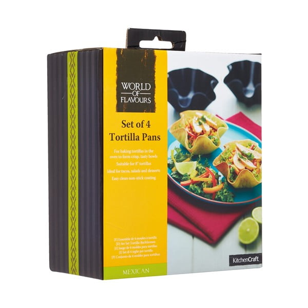 Sada 4 foriem na tortilly Kitchen Craft Mexican