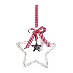 Svietiaca dekorácia Willow Star White