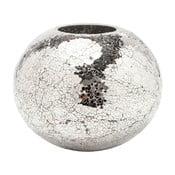 Váza v striebornej farbe Kare Design Mosaix Disco, 21cm