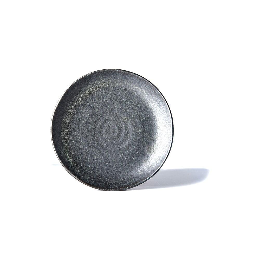 Čierny keramický tanier Mij BB, ø 24,5 cm