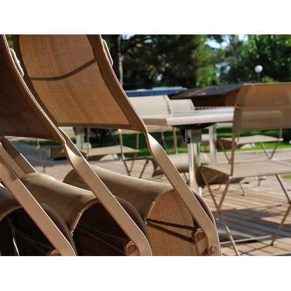 Sada 2 zelených skladacích stoličiek Fermob Dune