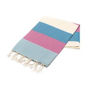 Hammam osuška American Stripes Blue, 100 x 180 cm