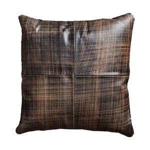 Hnedý kožený vankúš Fuhrhome Cairo, 45×45cm