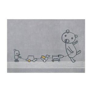Sivý koberec Art For Kids Paintclub, 100×150 cm