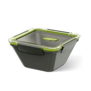 Krabička na potraviny Bento Box grey/green, 0,9 l