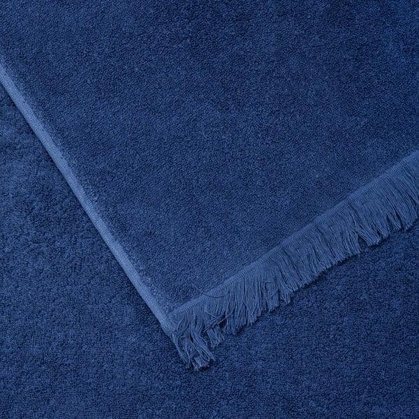 Sada 2 modrých bavlnených osušiek CasaDiBassi Bath, 100×160cm
