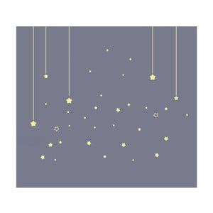 Svietiace nástenné samolepky Art For Kids Stars