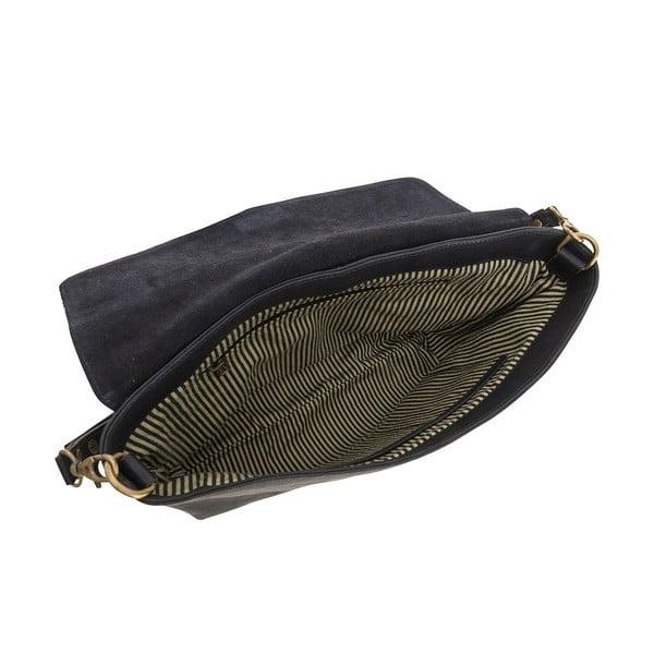 Kožená kabelka Ella, polnočná modrá