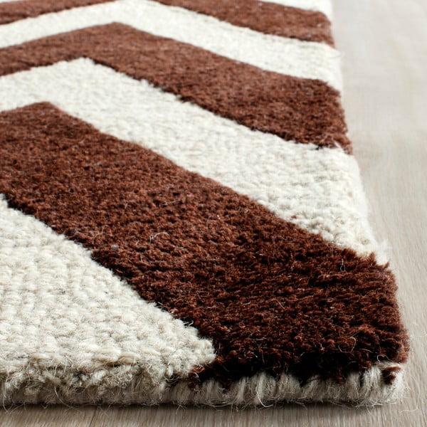 Vlnený koberec  Safavieh Stella Brown, 152x243 cm
