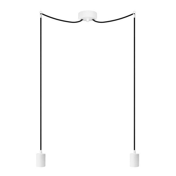 Dvojité závesné káble Cero, biela/čierna/biela