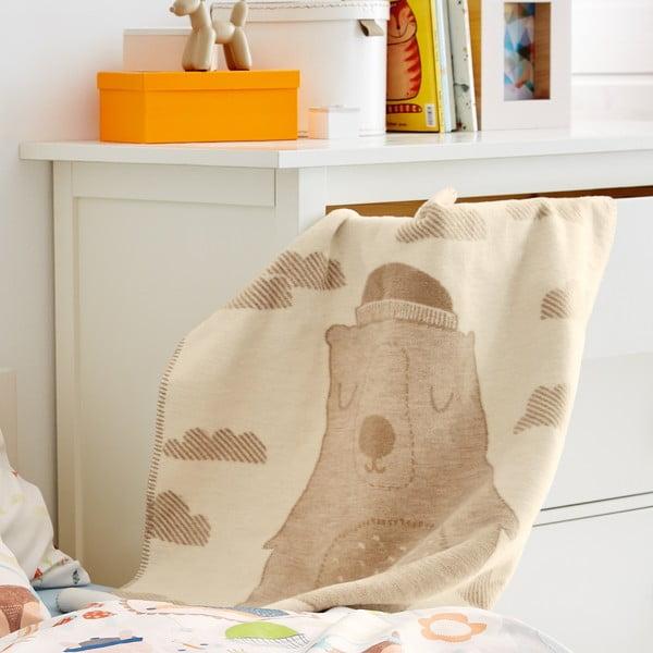 Detská deka S.Oliver, 75x100 cm, motív medvedíka