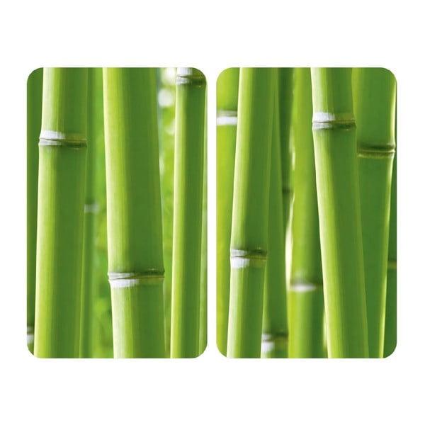 Sklenený kryt na sporák Bamboo, 2 ks