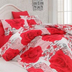 Sada obliečok a prestieradla Red Roses, 200x220 cm