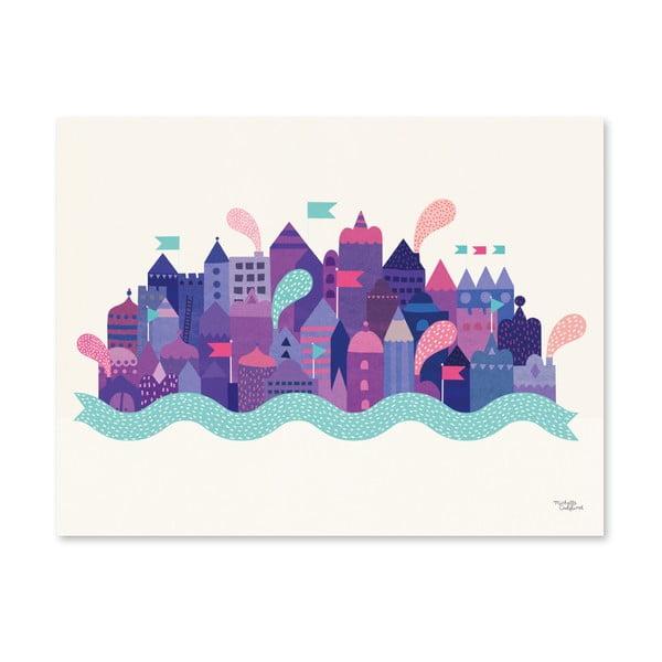 Plagát Michelle Carlslund Purple City, 30x40cm