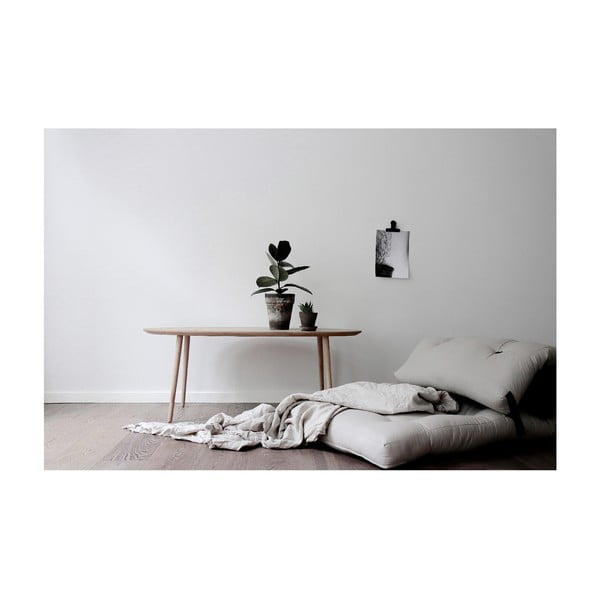 Variabilný svetlosivý skladací matrac Karup Design Wrap Natural/Dark Grey
