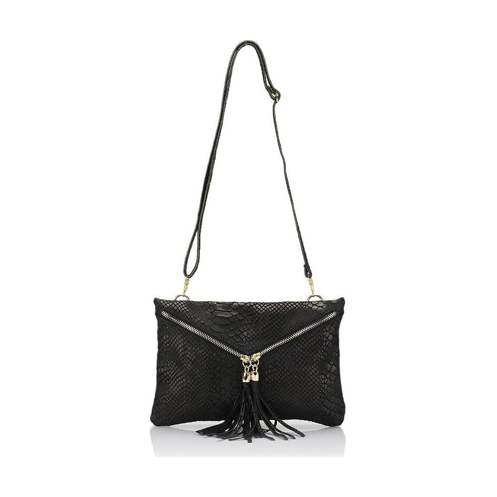 17149a4673 Čierna kožená kabelka Giulia Massari Erinn