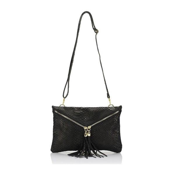 Čierna kožená kabelka Giulia Massari Erinn