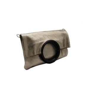 Hnedosivá listová kabelka / kabelka z pravej kože Andrea Cardone Lernie