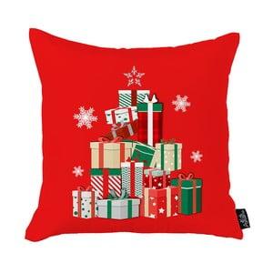 Červená vianočná obliečka na vankúš Apolena Honey Christmas Gifts, 45 x 45 cm