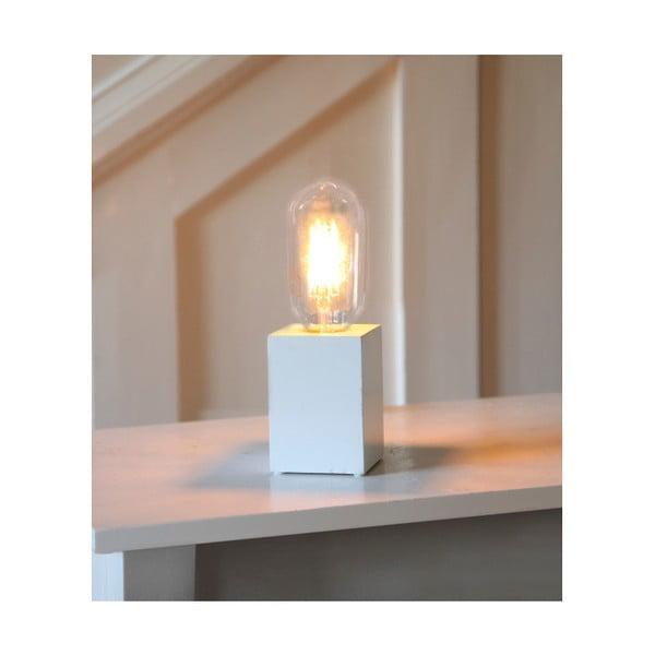 Biela drevená lampa Best Season Lys