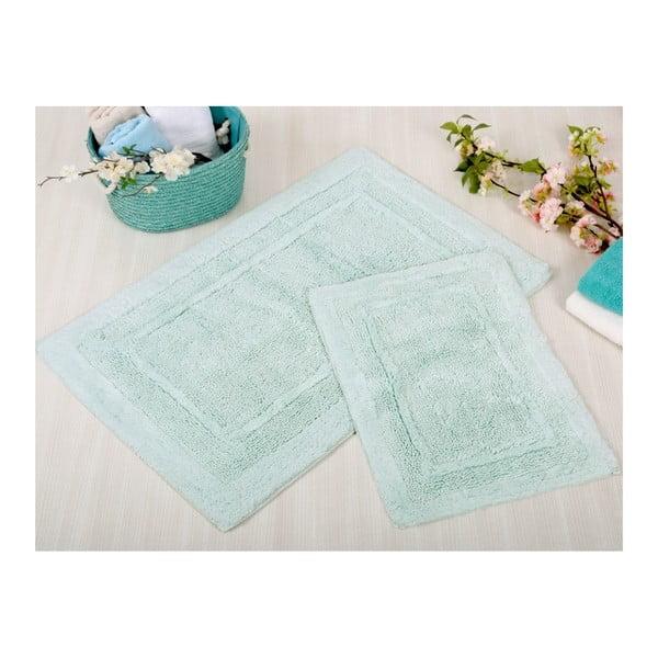 Sada 2 modrých kúpeľňových rohožiek Irya Home Superior, 60x100 cm a 40x60 cm