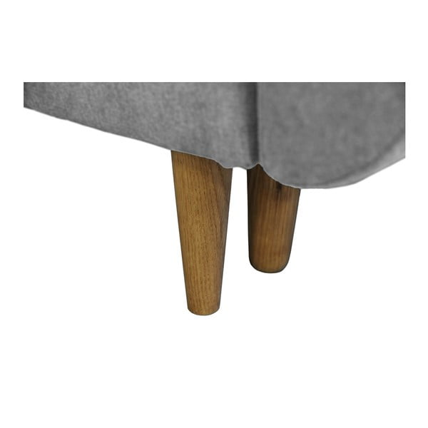 Sivá rozkladacia pohovka so svetlými nohami Mazzini Sofas Roso