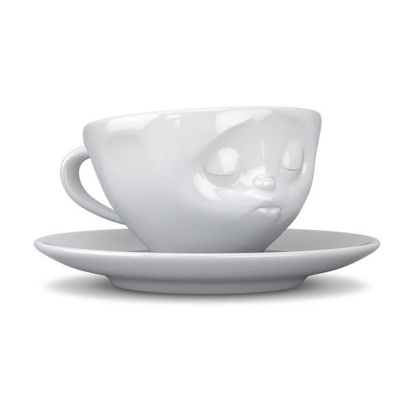 Boštekujúci hrnček na kávu, biely z bistra U Kubistu
