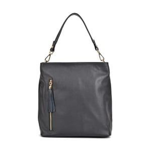 Čierna kožená kabelka Roberta M Magnolia