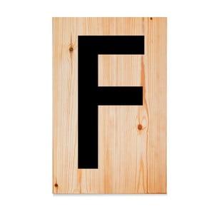 Drevená ceduľa Letters F