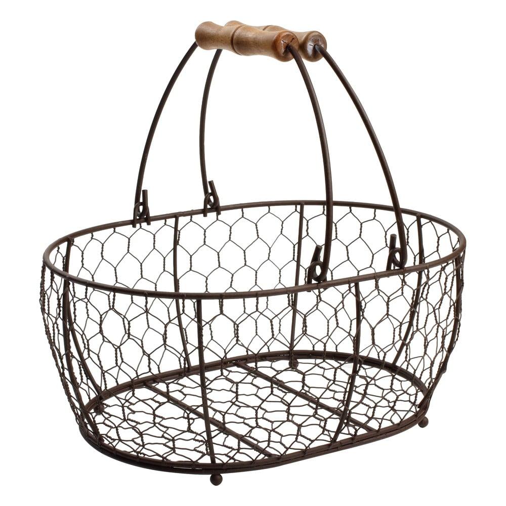 Kovový košík T&G Woodware Provence, 29 × 21 cm