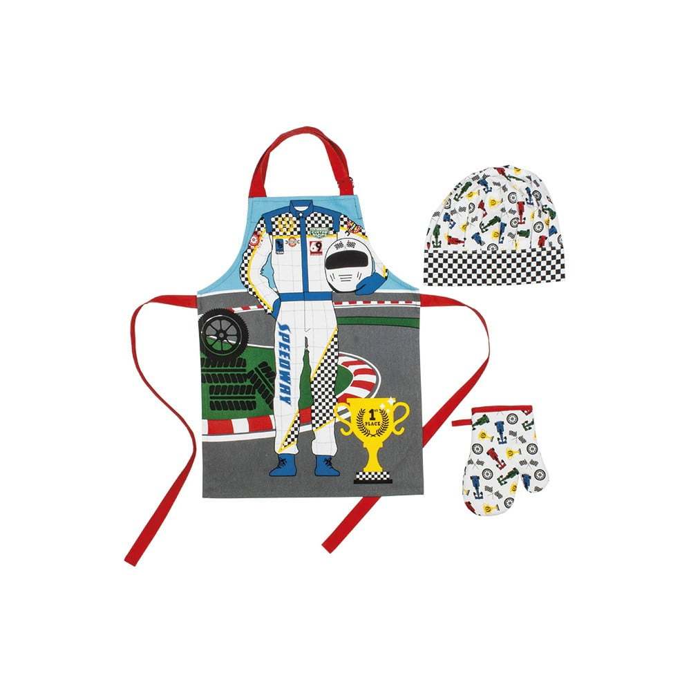 Set detskej zástery, kuchynskej rukavice a čiapky Ladelle Driver
