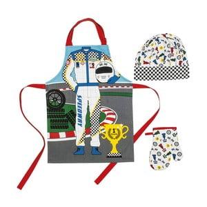 Detský set zástery, čapice a kuchynskej rukavice Driver