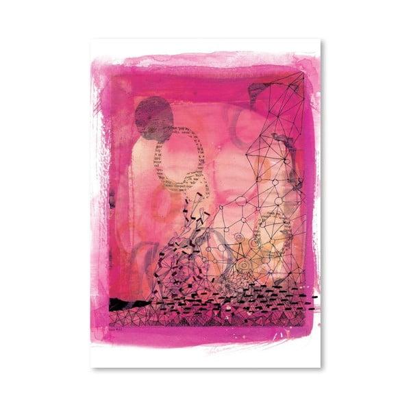 Plagát Pink Collage, 30x42 cm