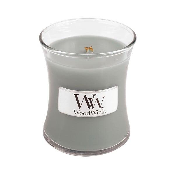 Sviečka s vôňou jantáru, vetiveru a pižma Woodwick Oheň v kozube, doba horenia 20 hodín