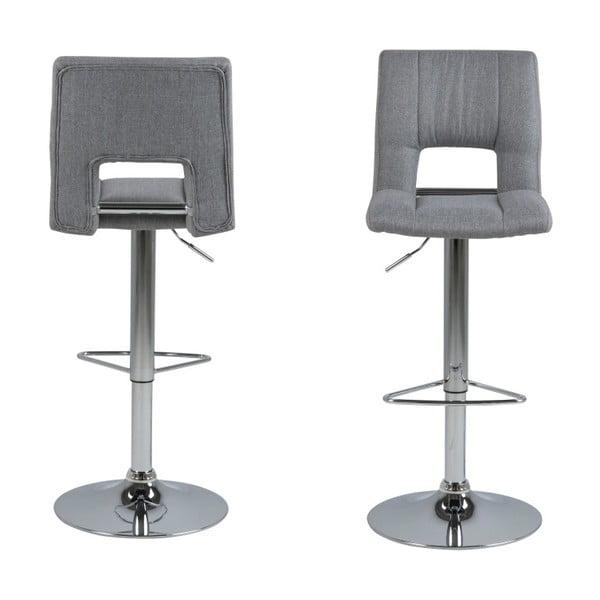 Sada 2 svetlosivých barových stoličiek Actona Wilma Barstool