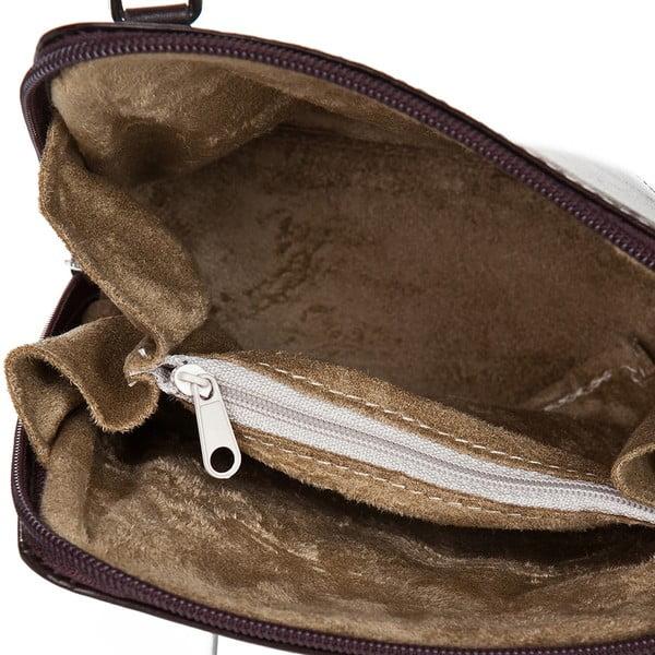 Tmavohnedá kožená kabelka Giorgio Costa Jacinthe
