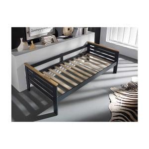 Sivá posteľ SOB Jessica, 90x190cm