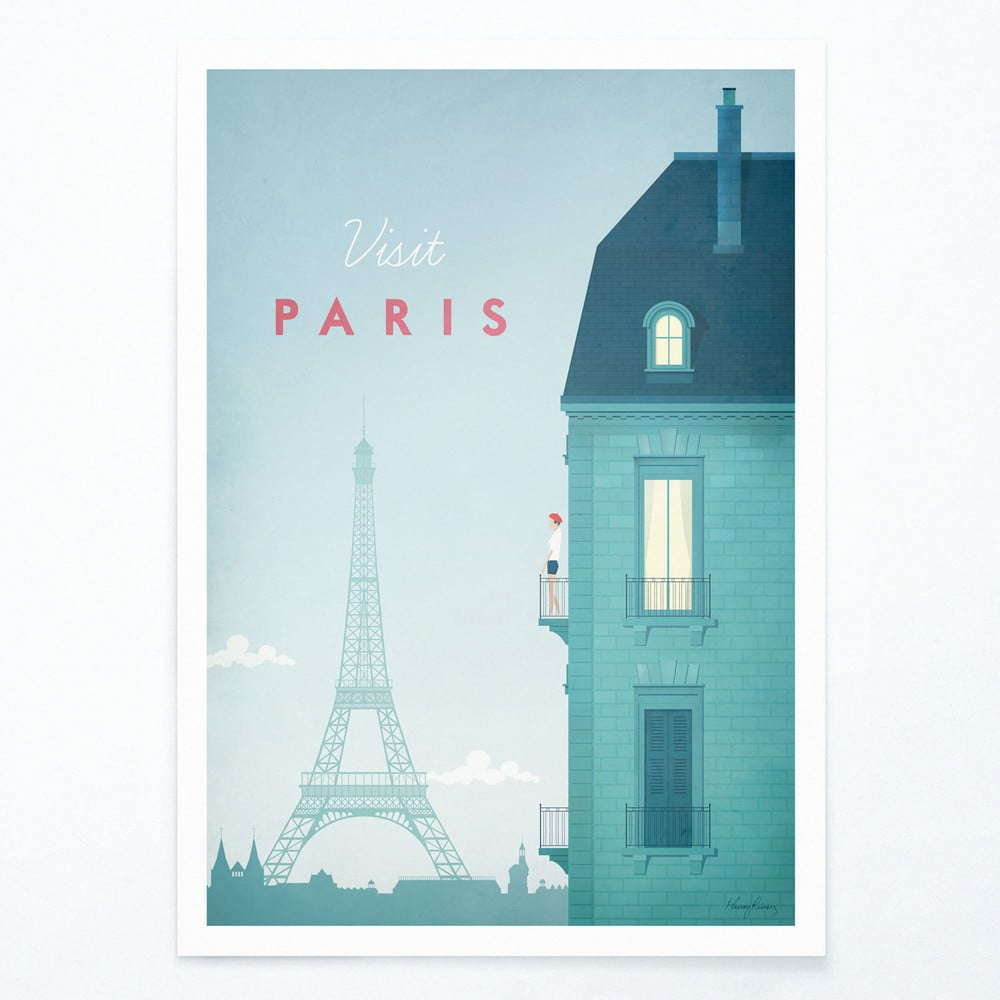 Plagát Travelposter Paris A3