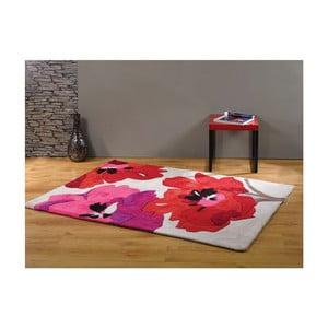 Koberec Bloom Red, 160x220 cm
